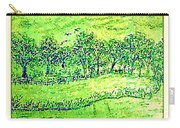 Water Color Of Apple Orchard Farm Carry-all Pouch