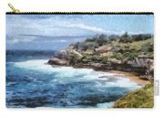Water Cove With Rocky Cliffs Carry-all Pouch