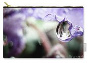 Water Drop On Purple Flower Carry-all Pouch