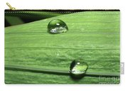 Water Droplet On A Leaf Carry-all Pouch