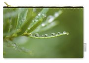 Water Droplets On Evergreen Carry-all Pouch