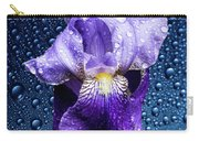 Water Drops On Purple Iris Carry-all Pouch
