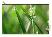 Water Drops On Spring Grass Carry-all Pouch