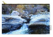 Water Flowing Through Rock Formation In Sabino Canyon II Carry-all Pouch