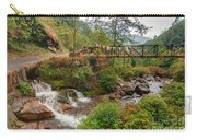 Water Flowing Through Rocks Kukhola Falls Sikkim Carry-all Pouch