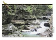 Water Flowing Through The Gorge Carry-all Pouch