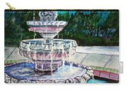Water Fountain Acrylic Painting Art Print Carry-all Pouch