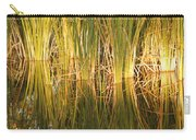 Water Grass In Sunset Carry-all Pouch