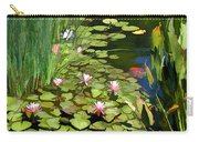 Water Lilies And Koi Pond Carry-all Pouch