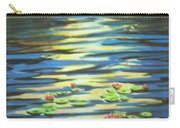 Water Lillies At Dusk Carry-all Pouch