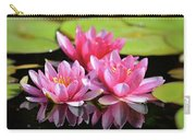 Water Lilly Triplets Carry-all Pouch
