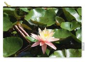 Water Lilly With Dragonfly Carry-all Pouch