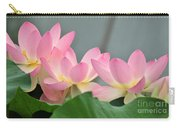 water lily 57 Pink Lotus Carry-all Pouch