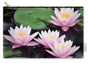 water lily 91 Sunny Pink Water Lily Carry-all Pouch