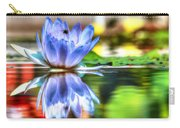Water Lily And Bee Carry-all Pouch