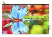Water Lily And Bee Pastel Carry-all Pouch