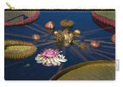 Water Lily And Platters Carry-all Pouch