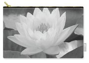 Water Lily - Burnin' Love 15 - Bw - Water Paper Carry-all Pouch