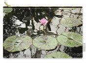 Water Lily Canvas Carry-all Pouch