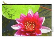 Water Lily In Pond Carry-all Pouch