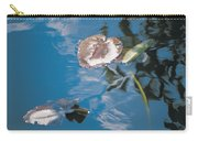 Water Lily Leaves And Reflection Of Clouds In Unknown Lake Carry-all Pouch