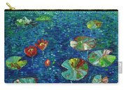 Water Lily Lotus Lily Pads Paintings Carry-all Pouch