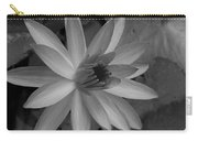 Water Lily Monochrome Carry-all Pouch