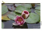 Water Lily With Bee Carry-all Pouch