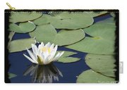 Water Lily With Black Border Carry-all Pouch
