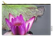 Water Lily With Rain Drops Carry-all Pouch