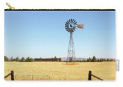 Water Pump Windmill At Wheat Farm In Rural Oregon Carry-all Pouch