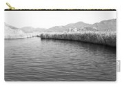 Water Scene In B And W Carry-all Pouch