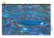 Water Sculpture Neon Blue 1 Carry-all Pouch