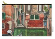 Water Taxi On Venice Side Canal Carry-all Pouch