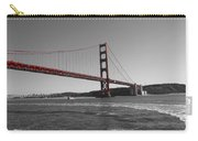 Water Underneath The Bridge-black And White Carry-all Pouch