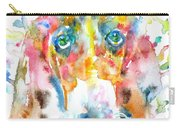 Watercolor Basset Hound Carry-all Pouch