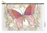 Watercolor Butterfly With Vintage Swirl Scroll Flourishes Carry-all Pouch