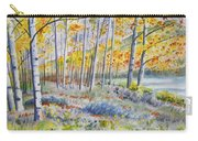 Watercolor - Colorado Autumn Forest And Landscape Carry-all Pouch