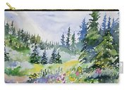Watercolor - Colorado Summer Scene Carry-all Pouch
