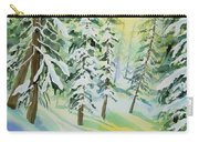 Watercolor - Colorado Winter Tranquility Carry-all Pouch