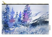 Watercolor - Colorado Winter Wonderland Carry-all Pouch