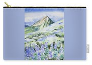 Watercolor - Crested Butte Lupine Landscape Carry-all Pouch by Cascade Colors