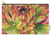 Watercolor Dahlia Carry-all Pouch