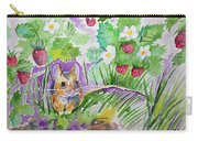 Watercolor - Field Mouse With Wild Strawberries Carry-all Pouch