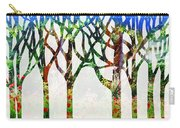 Watercolor Forest Silhouette Summer Carry-all Pouch