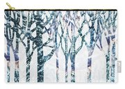 Watercolor Forest Silhouette Winter Carry-all Pouch