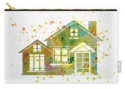 Watercolor Houses Carry-all Pouch