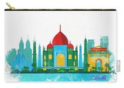 Watercolor Illustration Of Delhi Carry-all Pouch