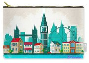 Watercolor Illustration Of London Carry-all Pouch