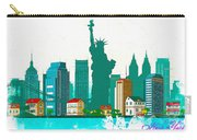 Watercolor Illustration Of New York Carry-all Pouch